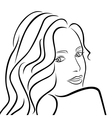 Abstract female half turn portrait vector image vector image