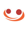 abstract hug logo icon vector image