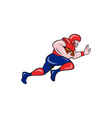 American Football Running Back Charging Cartoon vector image vector image