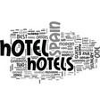 best hotels in spain text word cloud concept vector image vector image