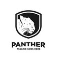 black panther logo design template vector image vector image