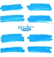 Blue marker stains set vector image vector image
