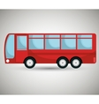 bus icon design vector image vector image
