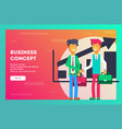business concept two businessmen shaking hands vector image