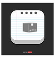cardboard boxes icon gray icon on notepad style vector image