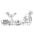 cartoon of naughty little boy doing mess vector image