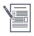 checklist and pencil vector image