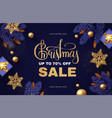 christmas sale design template with gifts fir vector image vector image