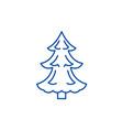 christmas tree line icon concept christmas tree vector image vector image