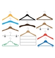 Coat hangers set on the white background vector image vector image