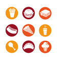 color fast food background icon vector image
