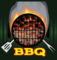color template with barbeque picnic vector image vector image