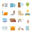Construction Materials Icons Set vector image vector image