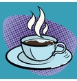 cup coffee pop art style vector image