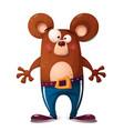 cute funny bear animal character vector image