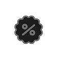 discount sale percent sign icon for sale sign vector image