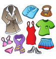 dress collection 1 vector image