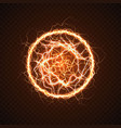 electric ball with lightning effect vector image vector image