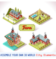 Farm Tiles 01 Set Isometric vector image vector image