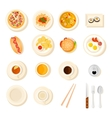 Fast Food And Drink Icon Set vector image vector image