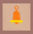 flat shading style icon bell ringer vector image vector image