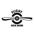 flight avia show logo simple style vector image vector image