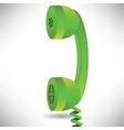 green handset vector image