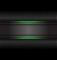 green light line dark grey banner on circle mesh vector image vector image