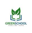 green school logo template design vector image