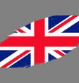 grunge styled flag vector image