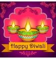Happy Diwali background with diya vector image vector image
