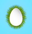 Happy Easter paper card in form egg with green vector image vector image
