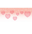 happy valentines day greeting card or banner wit vector image vector image