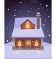 House In Snow vector image vector image