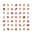 icons sweets vector image