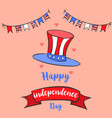 independence day greeting card collection vector image vector image