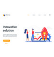 innovative solution landing page successful vector image vector image
