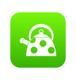 kettle with white dots icon digital green vector image vector image