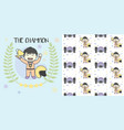 kid the champion get medals win racing vector image vector image