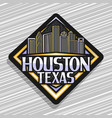 logo for houston vector image vector image