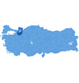 Map of Turkey Sakarya vector image vector image