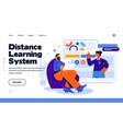 modern flat design distance learning system vector image vector image