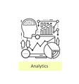 Modern thin line of icons analytics vector image