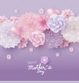 mothers day card concept design of flowers vector image