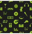 music club dj icons dark seamless pattern eps10 vector image vector image