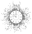 new year clock vector image