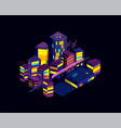night city isometric landscape modern vector image vector image