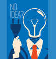 no idea concept business thinking with bulb vector image vector image