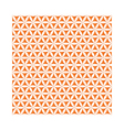 orange flower of life sacred geometric background vector image vector image