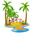 people having fun on the beach vector image vector image
